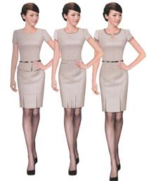 气质优雅职业夏装女短袖连衣裙-wsd022