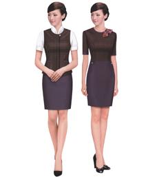 短袖职业连衣裙-wsd055